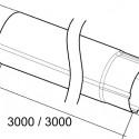 Круглая труба схема