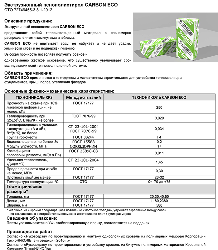 Microsoft Word - Техлист4.01_CARBON ECO_рус