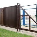Откатные ворота Profi Grand Line, высота 2,03 м. ширина 9 м.